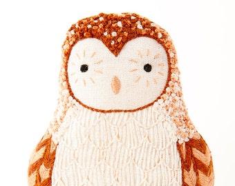 Barn Owl - Embroidery Kit