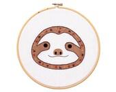 Baby Sloth - Hoop Art Kit