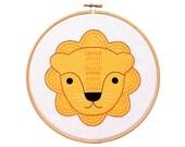 Little Lion - Hoop Art Kit