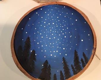 Birch Round Painting