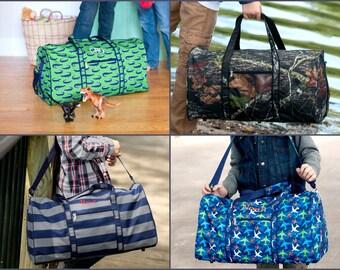 Duffel Bag, Monogrammed Duffel Bag, Personalized Overnight Bag, Boys Gym Bag,  Kids Duffel Bag, Weekend Travel Bag, Boys Luggage, Boys Duffle 6de70f08a0