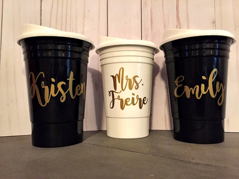 Personalized Solo Cups Monogrammed Solo Cups Bridesmaid image 0