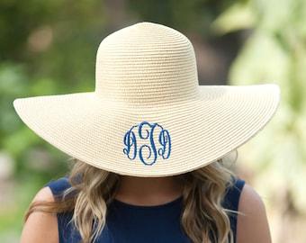 Floppy Hat, Monnogrammed Floppy Hat, Monogrammed Hat, Beach Hat, Beach Floppy Hat, Personalized Hat, Monogrammed Beach Hat