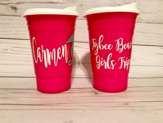 personalized solo cups monogrammed solo cups bridesmaid etsy