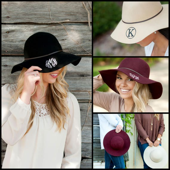 c1d248bcc51 Wool Floppy Hat Monogrammed Hat Personalized Floppy Hat