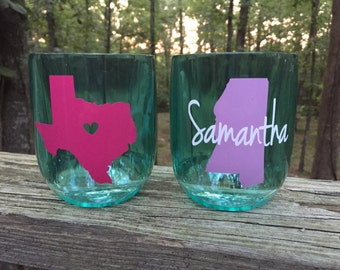 Personalized Acrylic Stemless, Home Stemless Wine Glass, Stemless Wine Glass, Monogram Stemless Wine Glass, Wine Glass