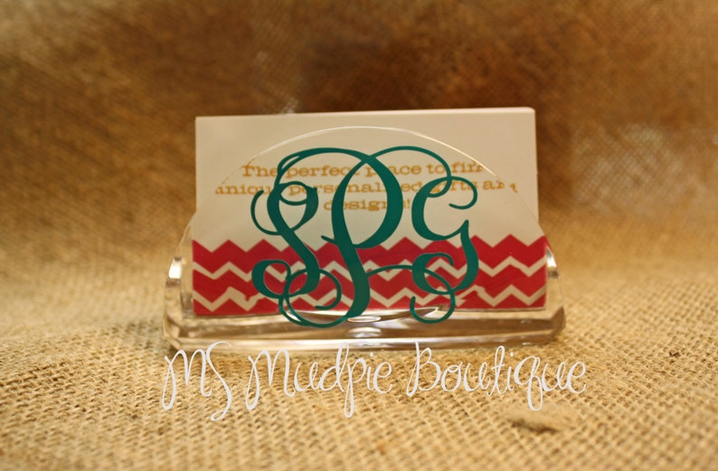 Personalized Business Card Holder Monogrammed Business Card image 0