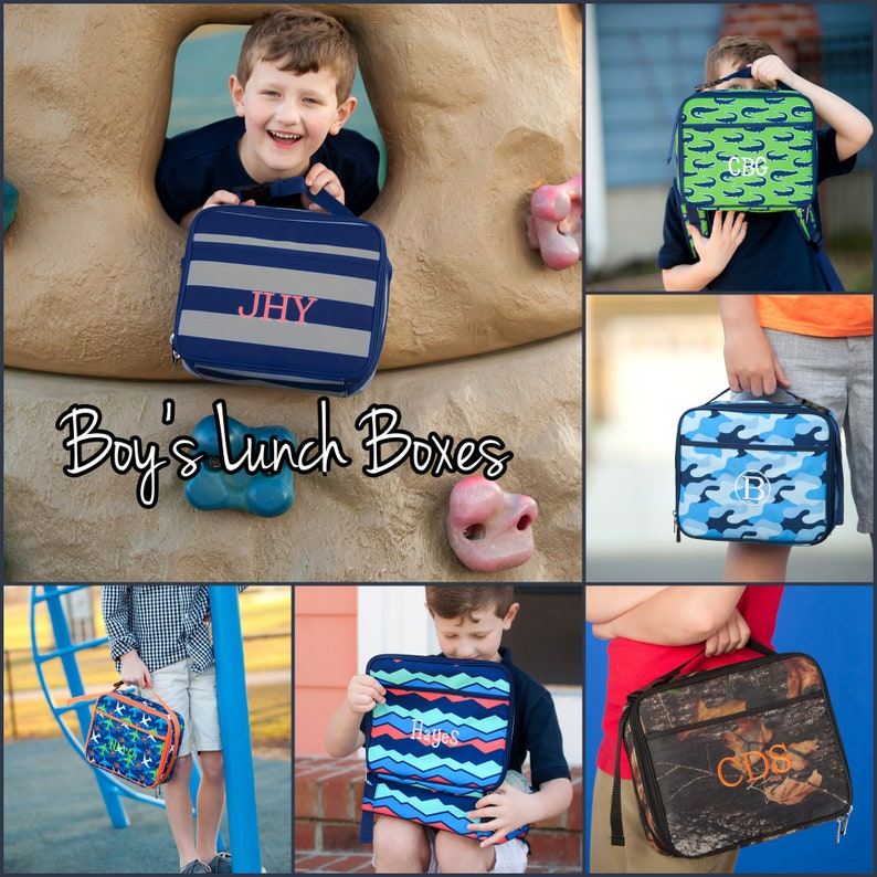 Lunch Box Lunch Tote Boy's Lunch Box Personalized Lunch image 0