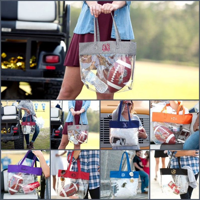 Gameday Tote Monogram Clear Pouch Clear Tote Clear Purse image 0