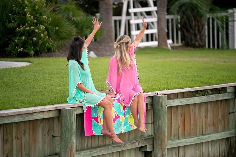 Monogrammed Swimsuit Cover Up Beach Cover Up Swimsuit Cover image 0
