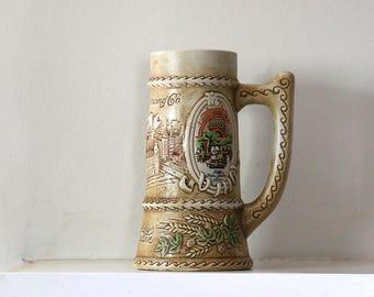 Vintage Beer Stein, Beer Mug, Jos Schlitz Brewing Company, Beer Lover, Collectible, Gift For Him, Ceramic Mug, Beer Memorabilia