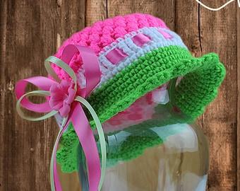 Crochet Cloche Hat Pattern - Crochet Pattern - Crochet Hat - 5 Sizes - Baby to Adult - Instant Download - PDF Format