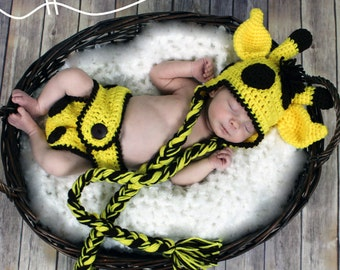 Crochet Giraffe Pattern - Crochet Baby Giraffe Hat - Diaper Cover Pattern - Crochet Photo Prop - Instant Download