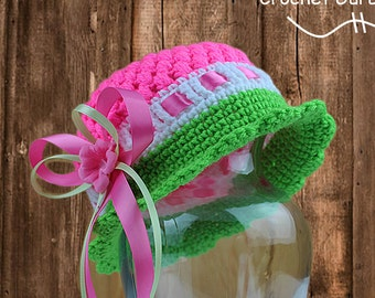 Crochet Hat Pattern - Cloche Hat Pattern- Cloche Hat - 5 Sizes - Baby to Adult Sizes - Instant Download - PDF Format