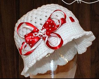 Crochet Hat Pattern - Cloche Hat - Crochet Pattern - 1920's Flapper Hat - 5 Sizes - Baby to Adult - Instant Download
