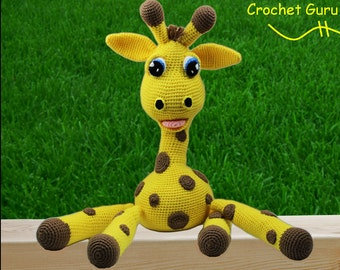 Crochet Animal Pattern - Giraffe Pattern - Amigurumi - Crochet Giraffe Pattern - Instant Download