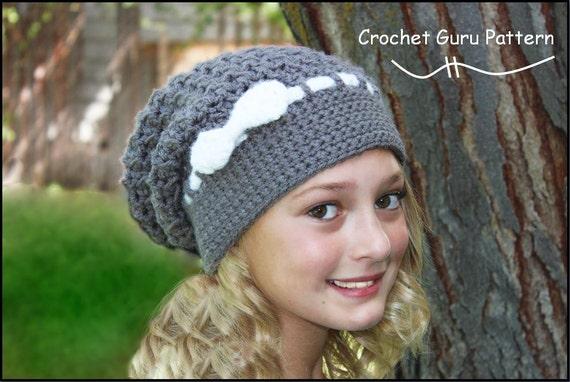 Crochet Slouchy Hat Pattern Crochet Hat Pattern Slouch Hat Etsy