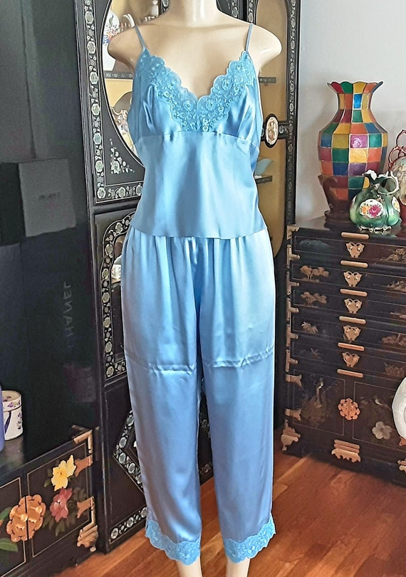 Super Lustrous Sexy 100% Silk Vintage Pajama Camis