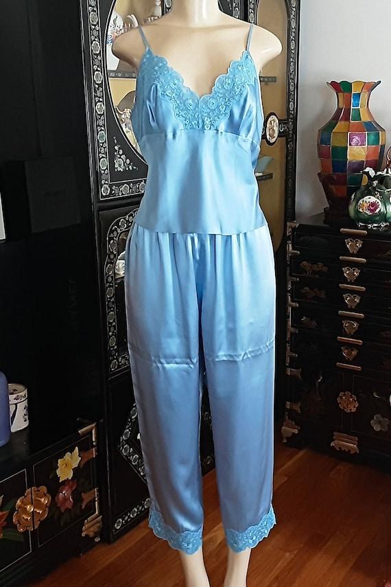Super Lustrous Sexy 100% Silk Vintage Pajama Cami… - image 8