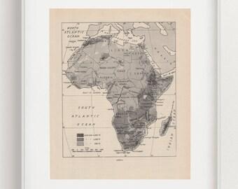 Afrika historische Forschungsreisen historische Landkarte Lithographie 1885