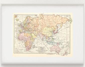 Vintage Map European History Peace of Westphalia in 1684 | Etsy