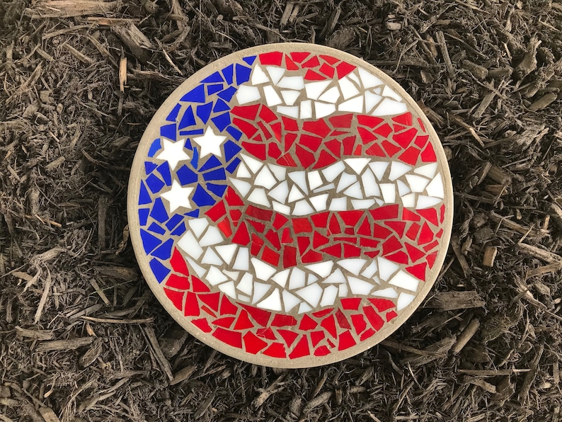 Stained Glass American Flag.Stained Glass American Flag Mosaic American Flag