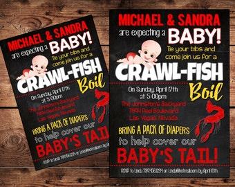 Crayfish Baby Shower Etsy