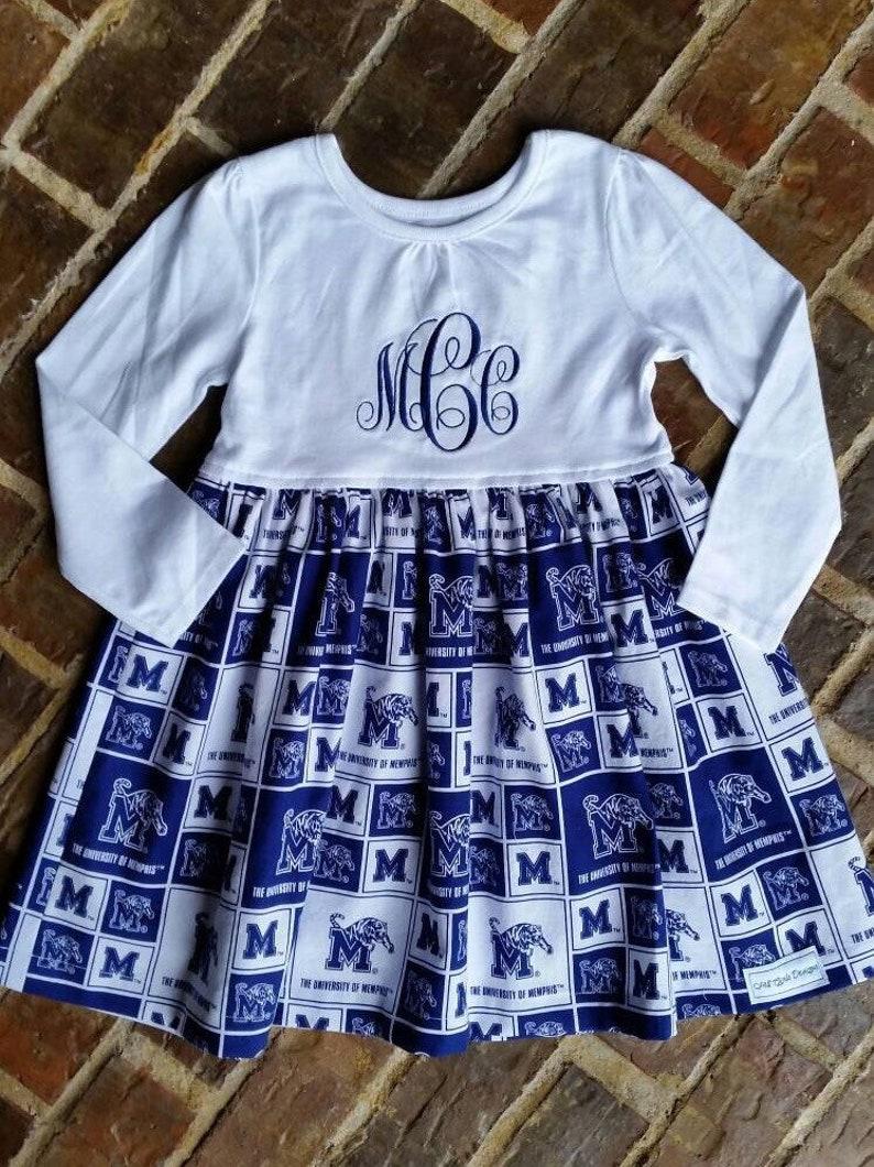 5c2c6679271eb Girls or baby girls University of Memphis dress with | Etsy