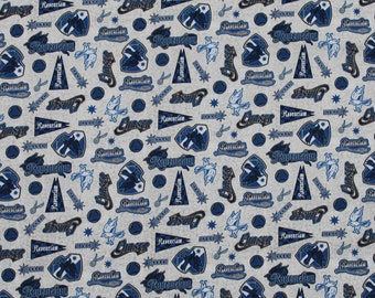 Harry Potter Fabric, Ravenclaw, Fabric, Licensed Fabric, Quilting Cotton End of Bolt