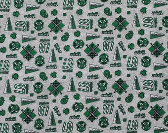 Harry Potter Fabric, Slytherin, Fabric, Licensed Fabric, Quilting Cotton