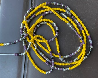 Body Jewelry Belly Chains, Waist Chains Genuine chakra gem stones Waist Jewelry 2 Strand Breathe-Chakra African Waistbeads