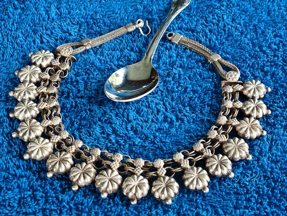 Antique Indian Necklace. Rajasthan Coin Silver Cho