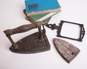 Antique Cast Iron Scissors, Primitive Hand-Forged Tool, Farmhouse Decor, Rustic Gift