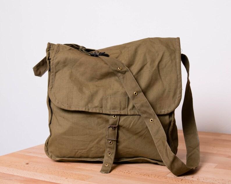 3d14a4e78e8a3 Mężczyźni torba Messenger Military Bag Vintage płótno torba | Etsy