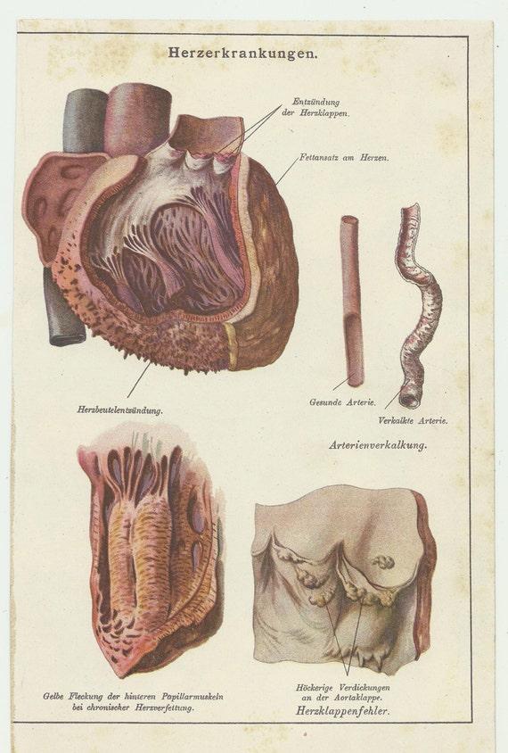 Herz Kunstdruck Romantik-Plakat alle meine Herz | Etsy