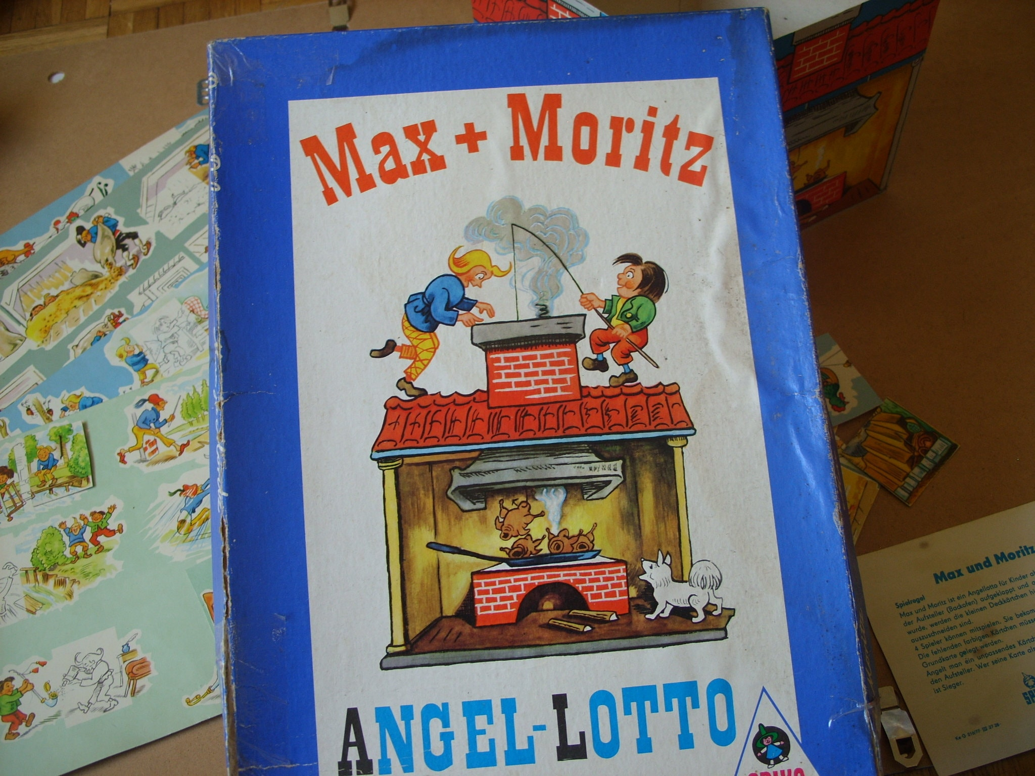 Max And Moritz Board Game Vintage Fishing Game Cold War 1960s Etsy