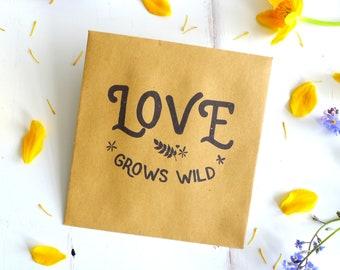 Wedding Favour Envelopes - Kraft Flower Seed Favors - Seed Packet Favors - Vintage Style - Wildflower Seed Envelope - Boho Wedding - Rustic
