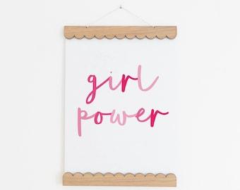 Girl Power Print, Girls Bedroom Decor, Girls Nursery Decor, Girl Power Wall Art, Nursery Print, Nursery Wall Art