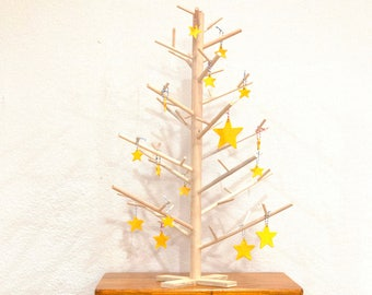 2 foot  Contemporary Modern Scandinavian Minimalist Wood Dowel Tabletop Christmas Tree ~ Alternative Pine Tree Decor ~ Handmade