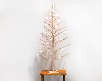 4 foot Contemporary Modern Scandinavian Minimalist Wooden Dowel Christmas Tree / Alternative Solstice Tree / Pine Tree Decor ~ Handmade