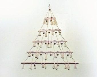 Macrame Scandinavian alternative Christmas Tree Wall hanging Natural Eco Ornament display decoration