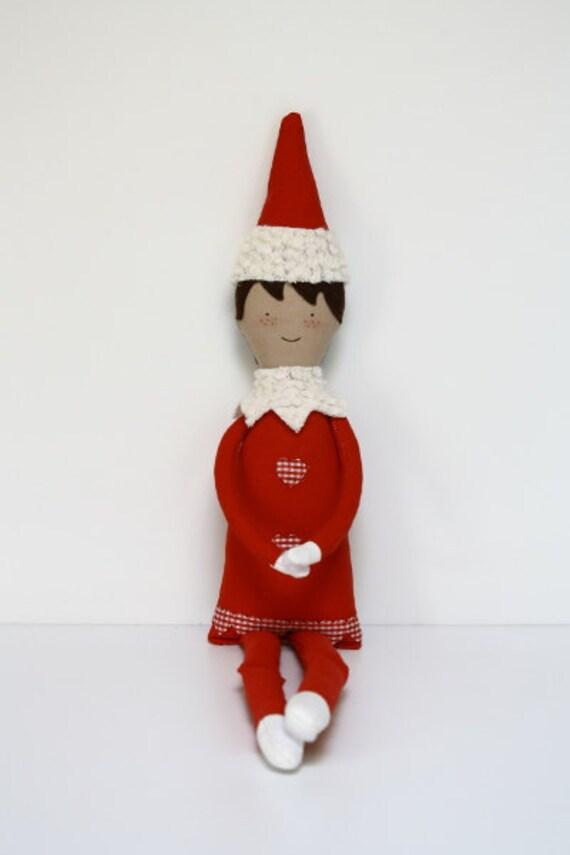 PDF pattern: Jingle Elf sewing pattern fabric elf softie | Etsy