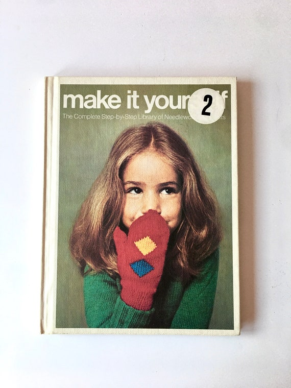 #3 Three Volume in a Series 1975 Make It Yourself Needlework and Crafts Library Knitting Crochet Embroidery Vintage 1970s Crafts Book
