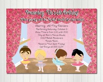 Dance recital invitation etsy ballet invitation ballet party ballet birthday recital invitation dance invitation dance party ballerina invitationballerina birthday stopboris Gallery
