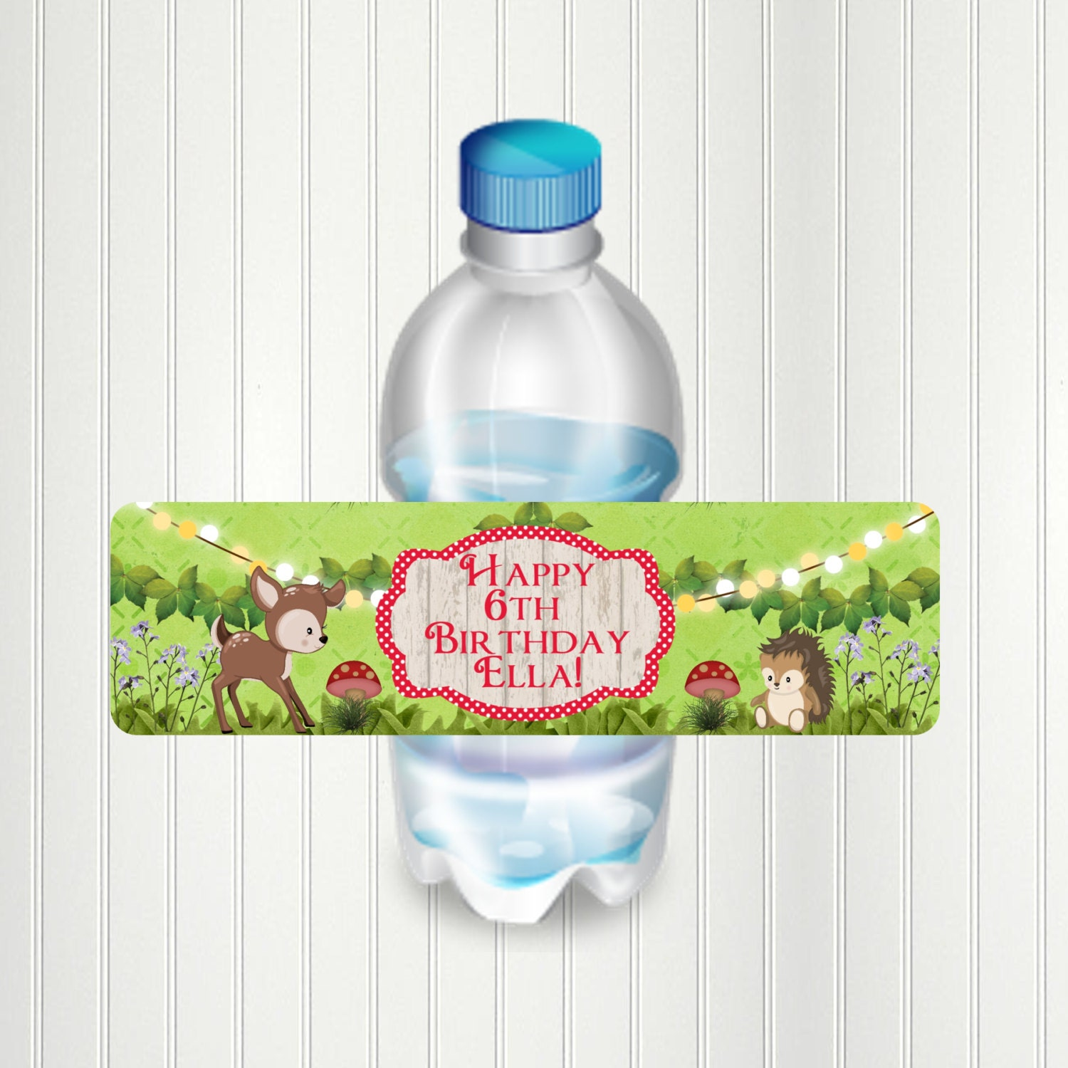 f577d86d8961 Woodland Fairy Water Bottle Label Party Woodland Woodland