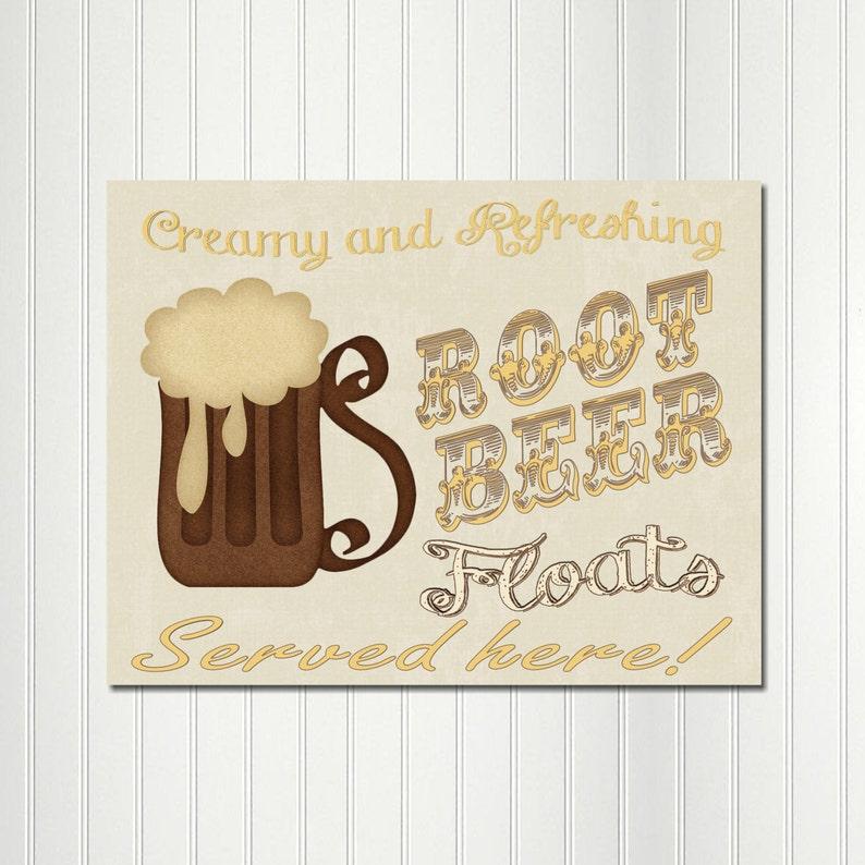 1950/'s Sock Hop Birthday Fifties Decoration Retro Sign Root Beer Float Sock Hop