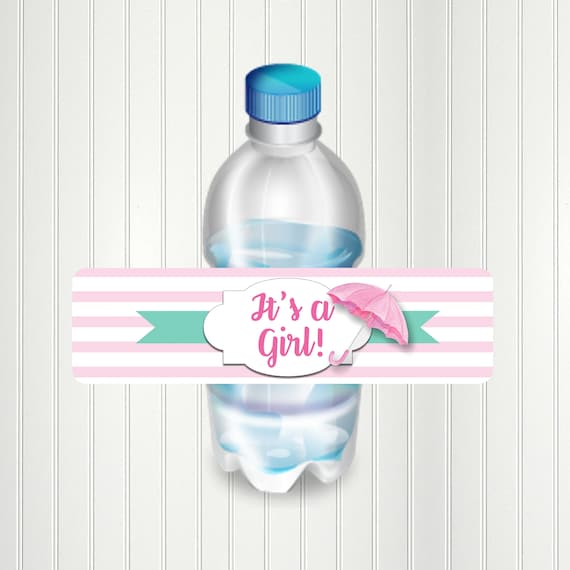 """48 IT/'S A GIRL SHOWER BOTTLE ENVELOPE SEALS LABELS STICKERS 1.2/"""" ROUND"""