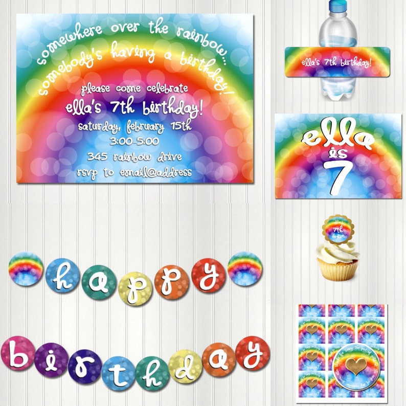 RAINBOW CONNECTION Rainbow Banner Poster Rainbow Party Sign Rainbow Birthday Rainbow Party Backdrop Sign Banner Background