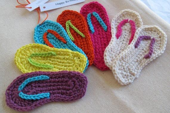 Miniature Flip Flop Crochet Pattern PDF / Instant Download /   Etsy