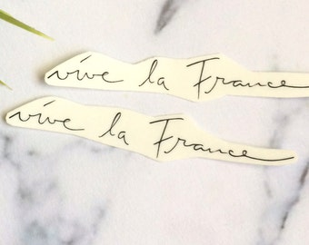 Vive La France Script Calligraphy Cursive Minimal Temporary Tattoo Tatto Tatoo Paris Nice PrayForFrance
